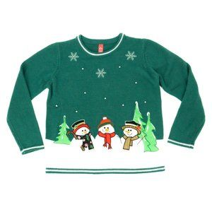Fashion Ave Women's Ugly Sweater Snowman Holiday M